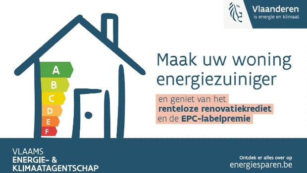 Nieuwe renovatiemaatregelen vanaf 2021:  Renteloos renovatiekrediet en EPC-labelpremie